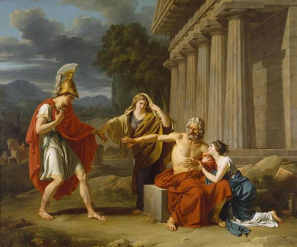 Wall Art - Painting - Oedipus At Colonus  by Jean Antoine