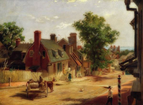 Wall Art - Painting - Old Annapolis, Francis Street by Francis Blackwell Mayer