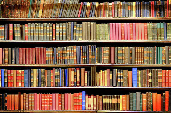 Wall Art - Photograph - Old Books In A Library by Luoman