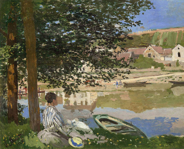 Wall Art - Painting - On The Bank Of The Seine, Bennecourt by Claude Monet