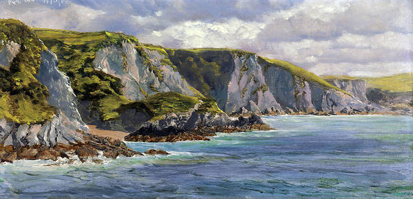 Wall Art - Painting - On The Welsh Coast by John Brett