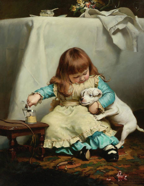 Wall Art - Painting - Once Bit, Twice Shy by Charles Burton Barber