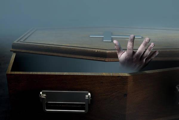 Wall Art - Digital Art - Open Coffin Hand And Crucifix by Allan Swart