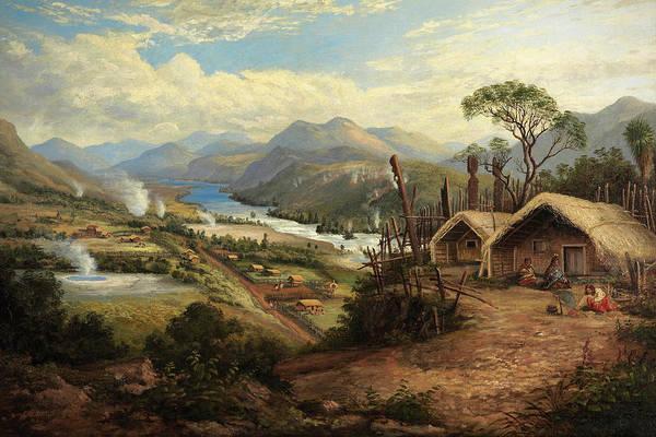 Wall Art - Painting - Orakei Korako On The Waikato by Charles Blomfield