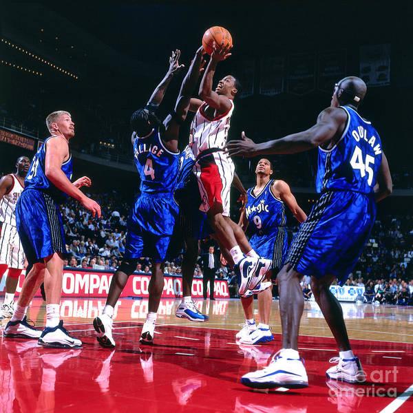 Photograph - Orlando Magic V Houston Rockets by Bill Baptist