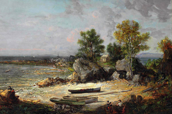 Wall Art - Painting - Oysterman's Hut by George Loring Brown