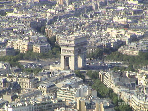 Photograph - Paris France Aerial View Panorama 2004 by John Shiron