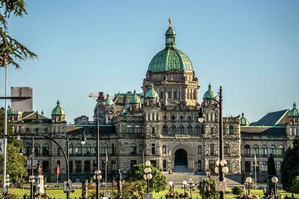Photograph - Parliament And City Park. Vicotoria Is A Famous Tourist Destinat by Alex Grichenko