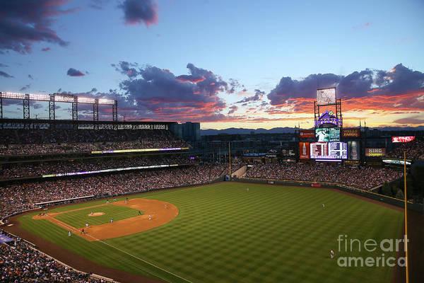 Photograph - Philadelphia Phillies V Colorado Rockies by Justin Edmonds