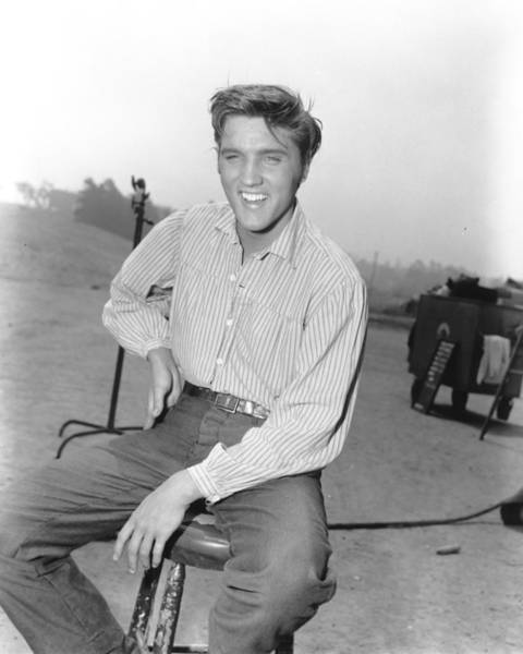Photograph - Photo Of Elvis Presley On The Set Of by Michael Ochs Archives