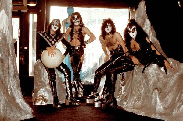 Peter Criss Wall Art - Photograph - Photo Of Paul Stanley And Kiss And Ace by Steve Morley