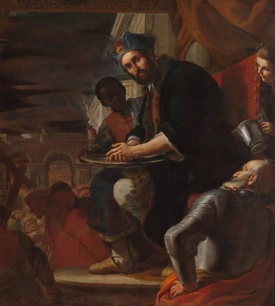 Pontius Pilate Wall Art - Painting - Pilate Washing His Hands by Mattia Preti