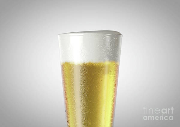 Pilsner Wall Art - Digital Art - Pilsner Beer Pint by Allan Swart