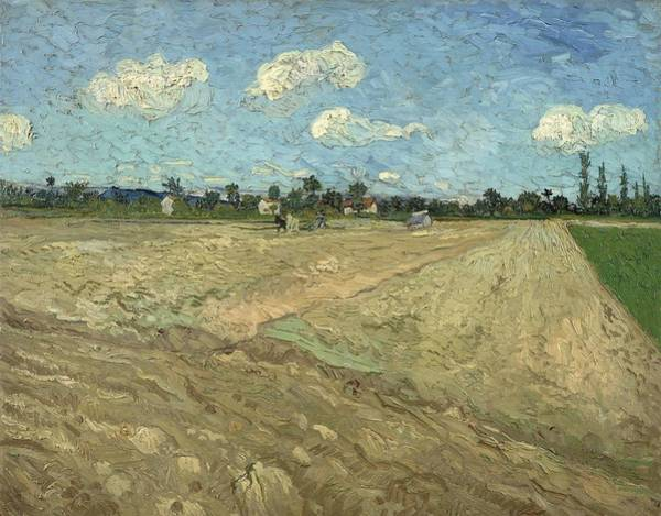 Rural Life Wall Art - Painting - Ploughed Fields, The Furrows by Vincent Van Gogh