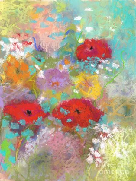 Wall Art - Painting - 3 Poppies by Frances Marino
