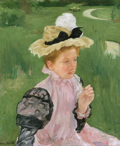 Wall Art - Painting - Portrait Of A Young Girl by Mary Cassatt