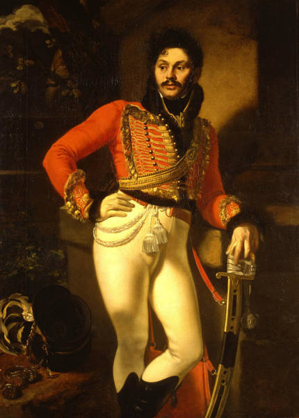 Painting - Portrait Of Life Guard Colonel Yevgraf Davydov by Orest Kiprensky