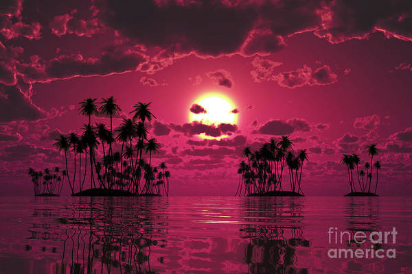 Wall Art - Photograph - Purple Sunset Over Tropic Sea by Aleksey Tugolukov