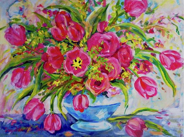 Painting - Red Tulips by Ingrid Dohm