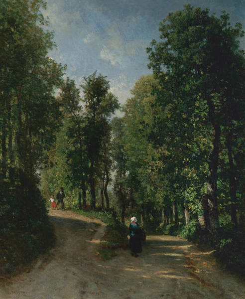 Painting - Road In The Woods by Constant Troyon