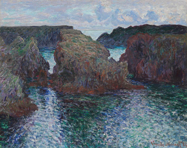 Painting - Rocks At Port-goulphar, Belle-ile by Claude Monet