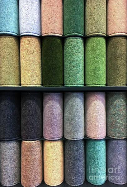 Wall Art - Photograph - Rolls Of New Carpet by Tom Gowanlock