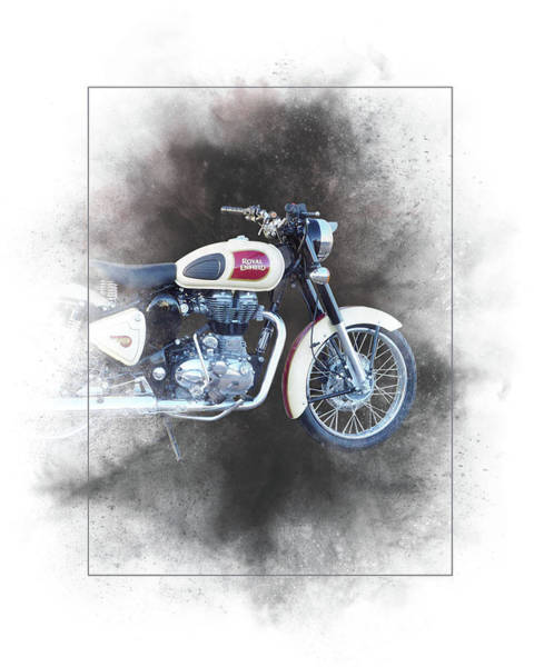 Wall Art - Mixed Media - Royal Enfield Classic 500 Painting by Smart Aviation
