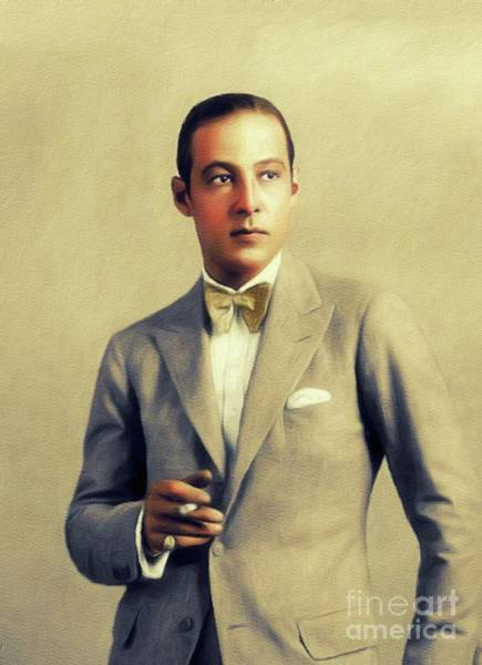Wall Art - Painting - Rudolph Valentino, Vintage Actor by John Springfield
