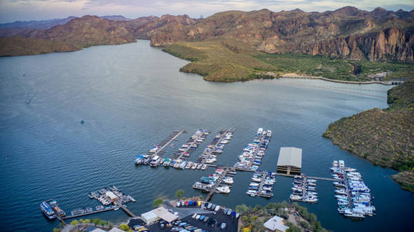 Photograph - Saguaro Lake Marina  by Ants Drone Photography
