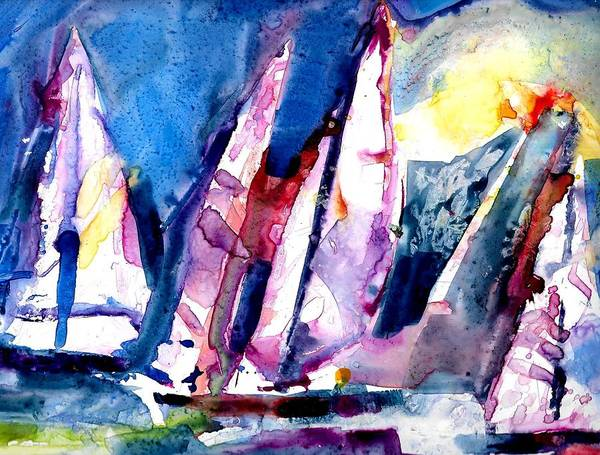 Painting - Sailing  by Jack Loeb