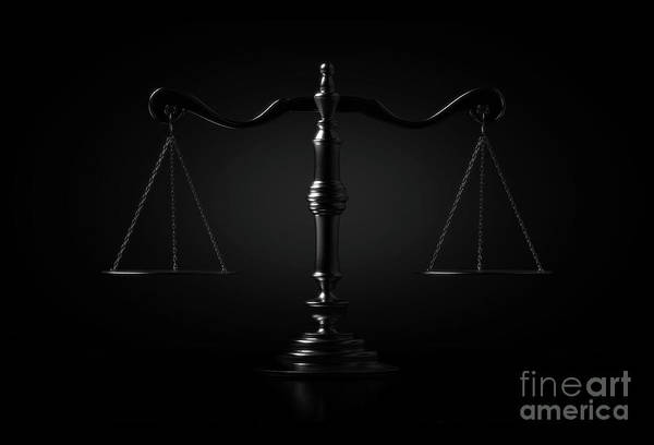 Wall Art - Digital Art - Scales Of Justice Dramatic by Allan Swart