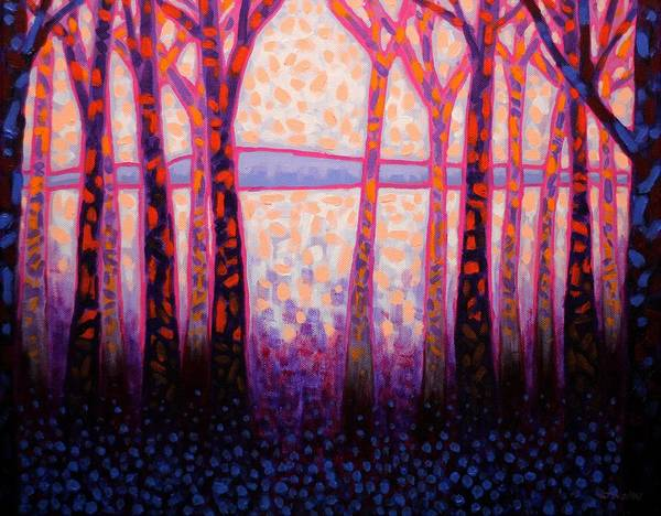 Wall Art - Painting - Shadow Trees  by John  Nolan