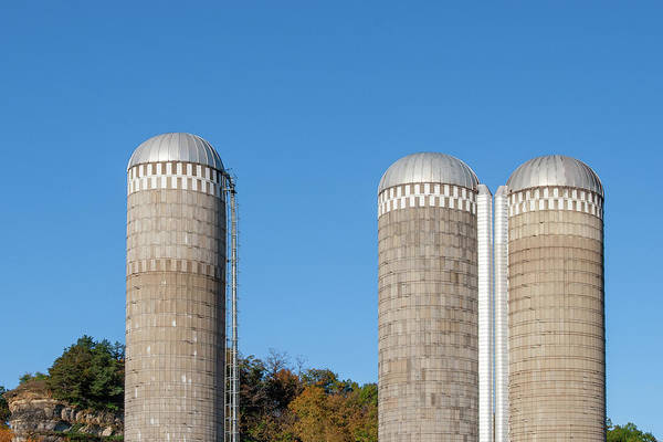 Sunny Side Up Wall Art - Photograph - 3 Silos by Todd Klassy