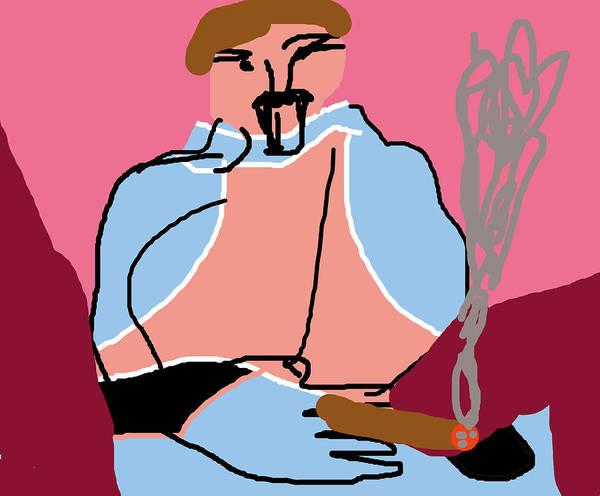 Digital Art - Smoker by Artist Dot