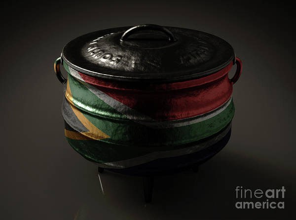 Wall Art - Digital Art - South African Potjie Pot by Allan Swart