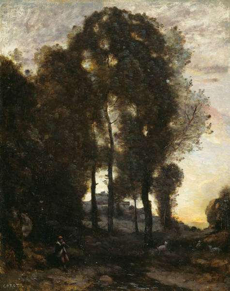 Wall Art - Painting - Souvenir Of Italy by Jean-Baptiste-Camille Corot