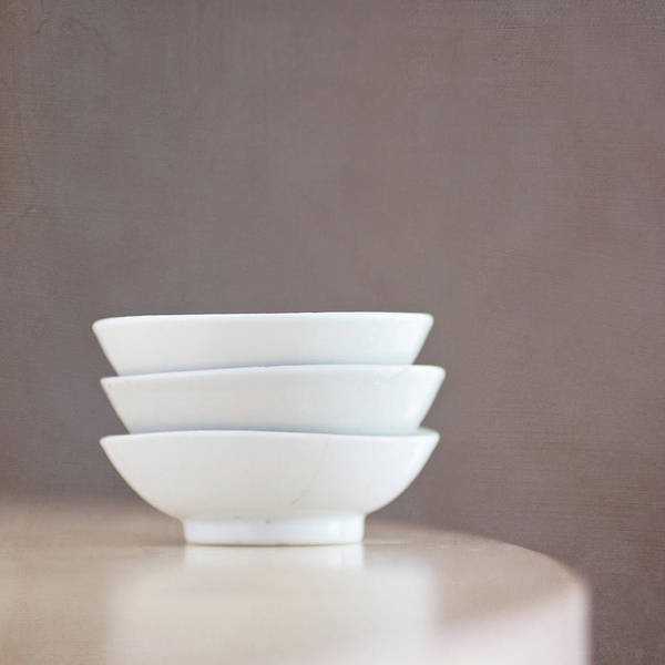 Repetition Photograph - 3 Stacked Bowls by Pamela N. Martin