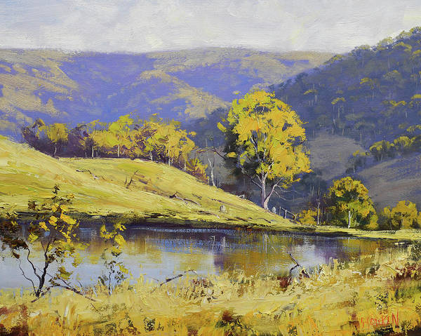 Wall Art - Painting - Summer Landscape by Graham Gercken