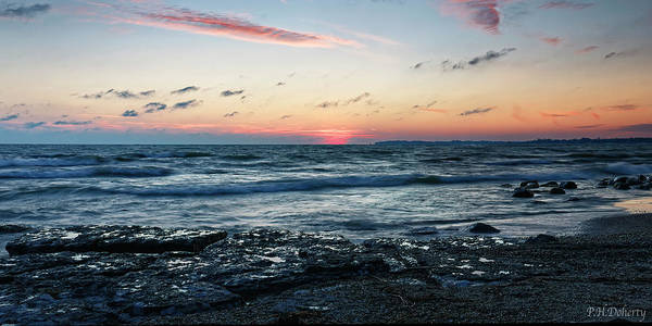 Great Lakes Region Wall Art - Photograph - Sun Has Set  by Phill Doherty