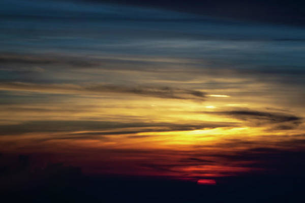 Photograph - Sun Setting Over Clouds Views From Airplane by Alex Grichenko