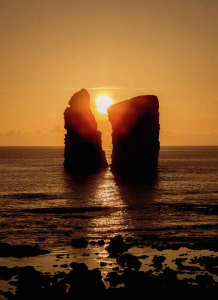 Wall Art - Photograph - Sunset Over The Ilheus Dos Mosteiros Sao Miguel Island Azores Portugal by imageBROKER - Karol Kozlowski
