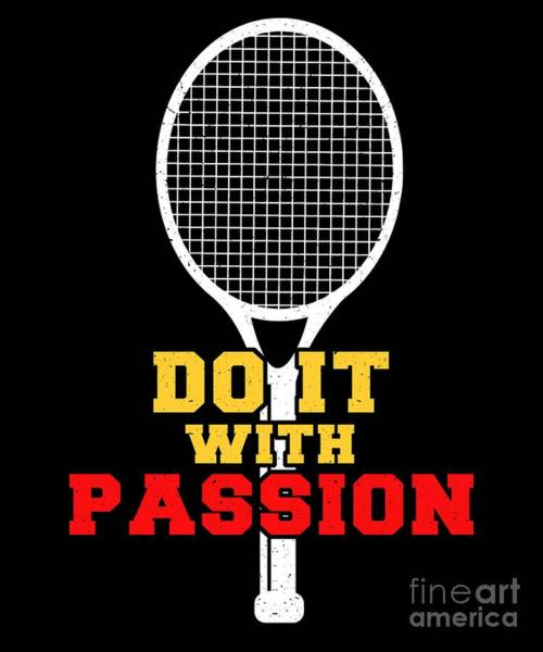 Backhand Digital Art - Tennis Player Ball Racket Serve Game I Love Tennis by TeeQueen2603