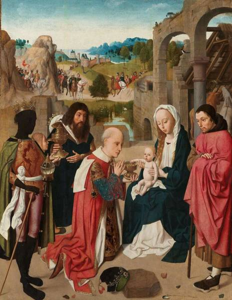 0 Painting - The Adoration Of The Magi. by Geertgen Tot Sint Jans