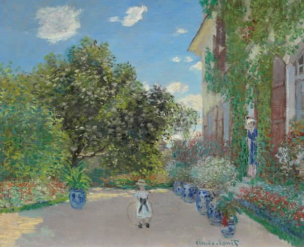 Wall Art - Painting - The Artist's House At Argenteuil by Claude Monet