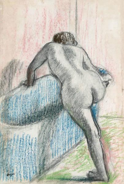 Pastel - The Bath by Edgar Degas