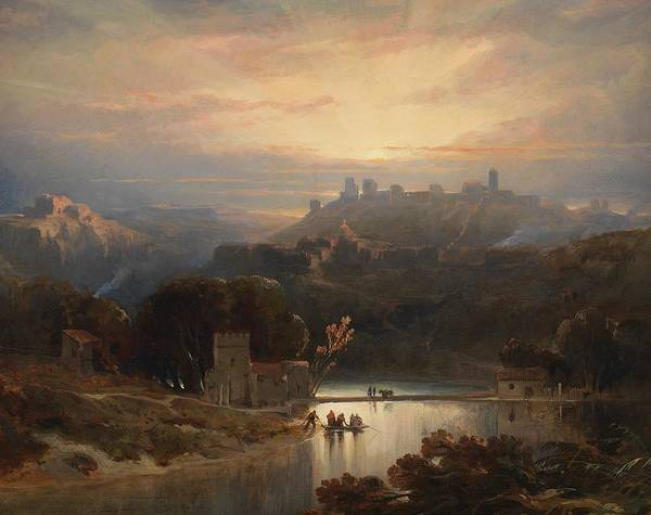 Wall Art - Painting - The Castle Of Alcala De Guadaira by David Roberts