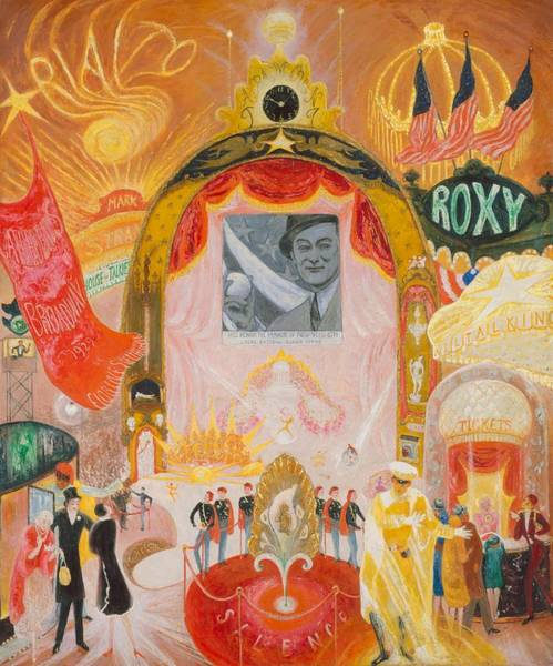 Wall Art - Painting - The Cathedrals Of Broadway by Florine Stettheimer