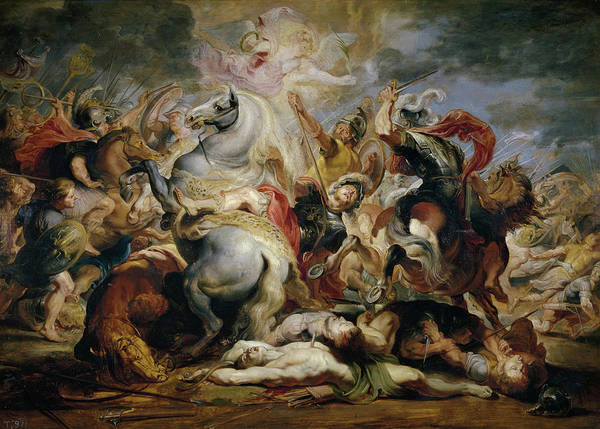 Wall Art - Painting - The Death Of The Consul Decius by Peter Paul Rubens