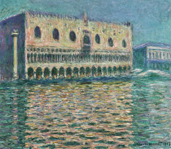 Wall Art - Painting - The Doge's Palace Seen From San Giorgio Maggiore by Claude Monet