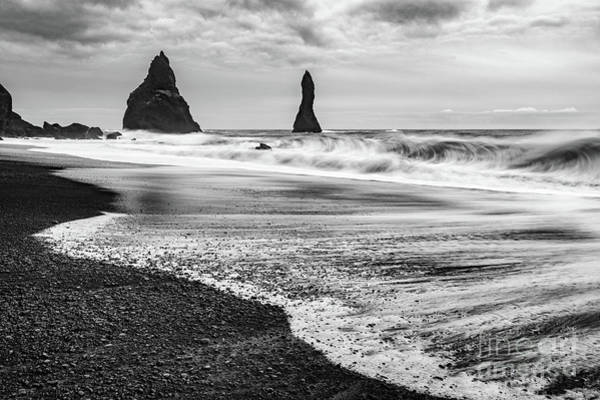 Wall Art - Photograph - The Dramatic Black Sand Beach Of Reynisfjara. by Jamie Pham